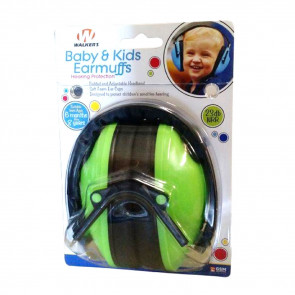 BABY & KIDS HEARING PROTECTION EARMUFFS - LIME GREEN