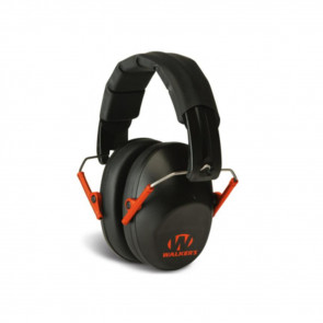 PRO-LOW PROFILE FOLDING EARMUFF - BLACK/ORANGE