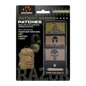 PATRIOT PATCH KIT - 4 ASSORTED PATCHES (COME AND GET IT VERSION)